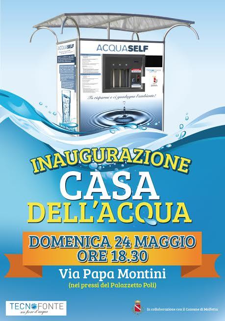 Molfetta, domani inaugurata la prima Casa dell'acqua