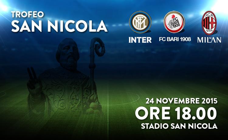 Trofeo San Nicola, a Bari sbarcano Inter e Milan